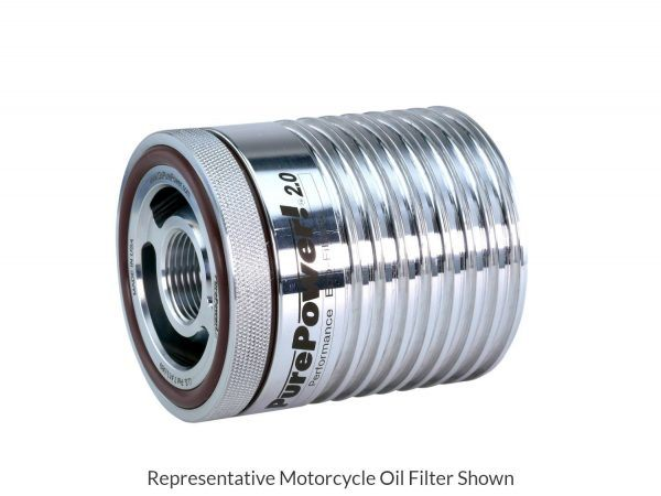 Motorcycle Oil Filter - Side