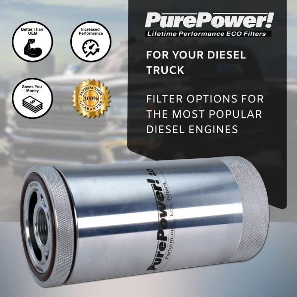 Diesel truck lifetime oil filters