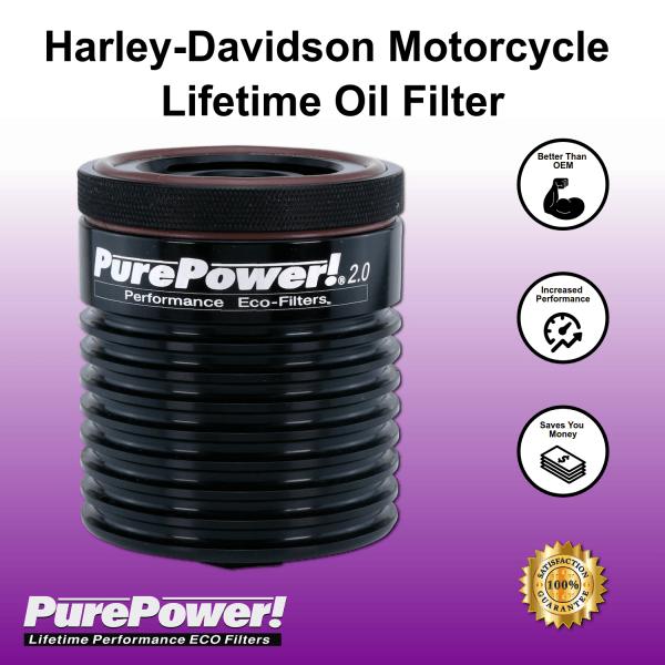 Harley Davidson motorcycle lifetime oil filter